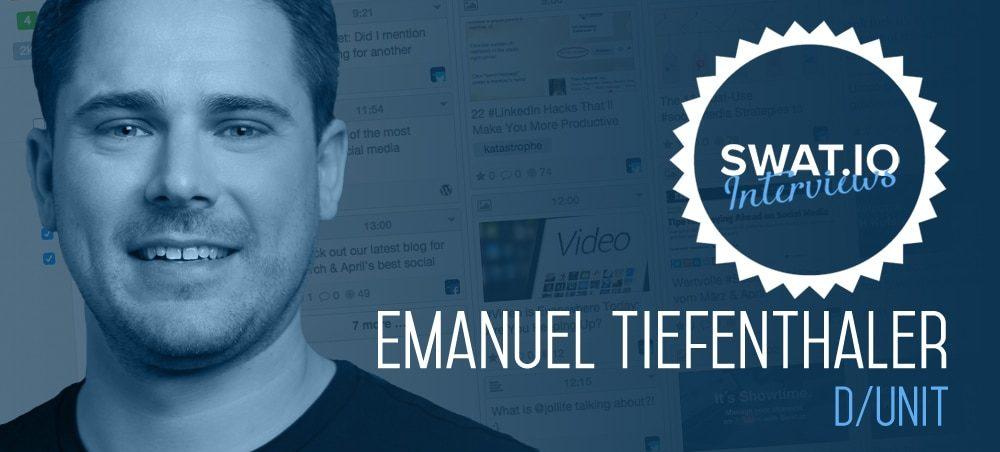 """Emanuel Tiefenthaler, D/UNIT (Deutschland): """"Auf jeden Userkommentar antworten. Auch wenn es nur ein Like auf einen Smiley ist."""" 2"""