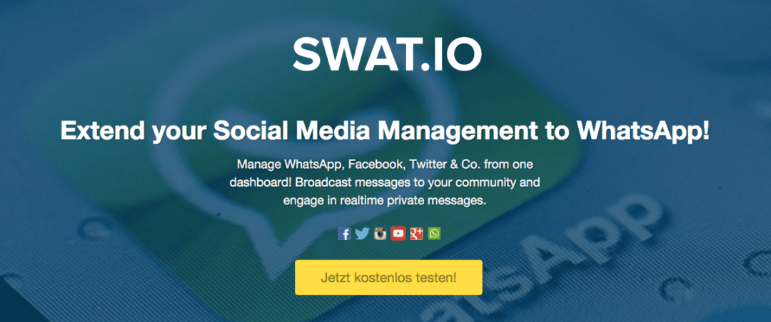 Launch: WhatsApp Support für Swat.io – Social Media Management auf allen Kanälen! 1