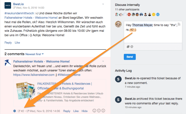 Combining Team Mentions & Comment Links for better Collaboration