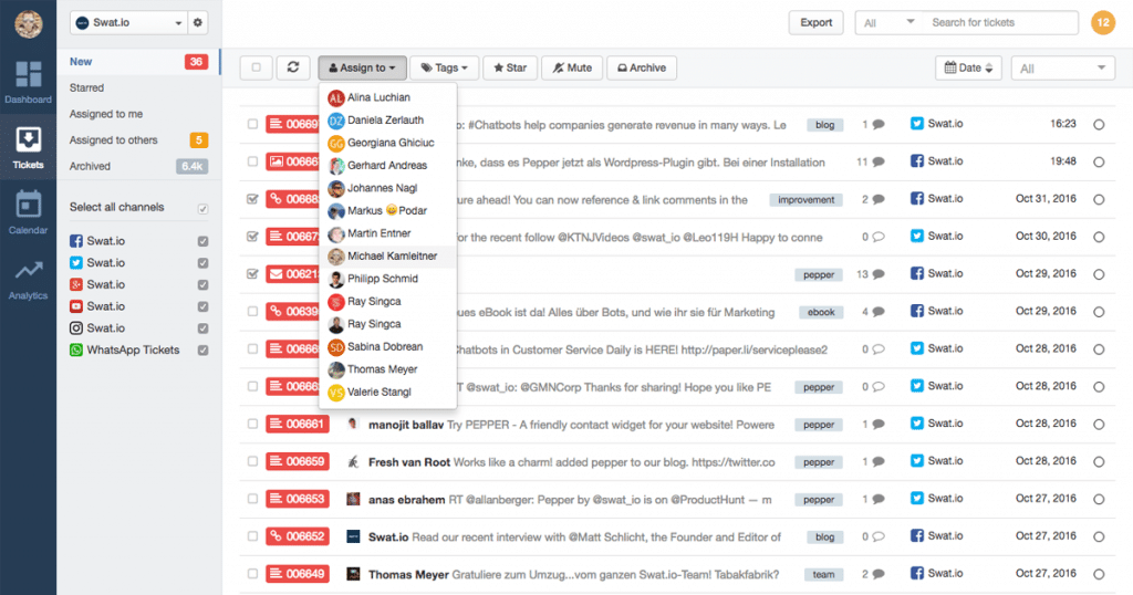The Swat.io Ticket Inbox – Community Management made easy!