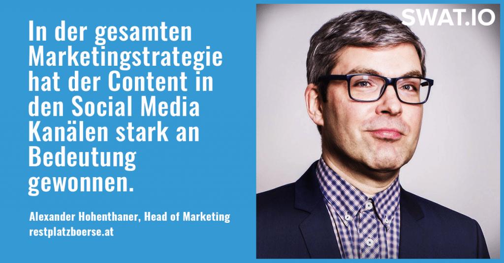 """Alexander Hohenthaner, Restplatzboerse.at: """"Eine eigene Strategie für jeden Social Media Kanal"""" 2"""