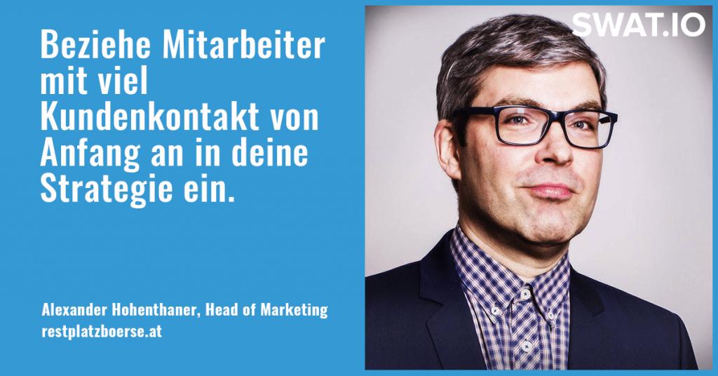 """Alexander Hohenthaner, Restplatzboerse.at: """"Eine eigene Strategie für jeden Social Media Kanal"""" 4"""