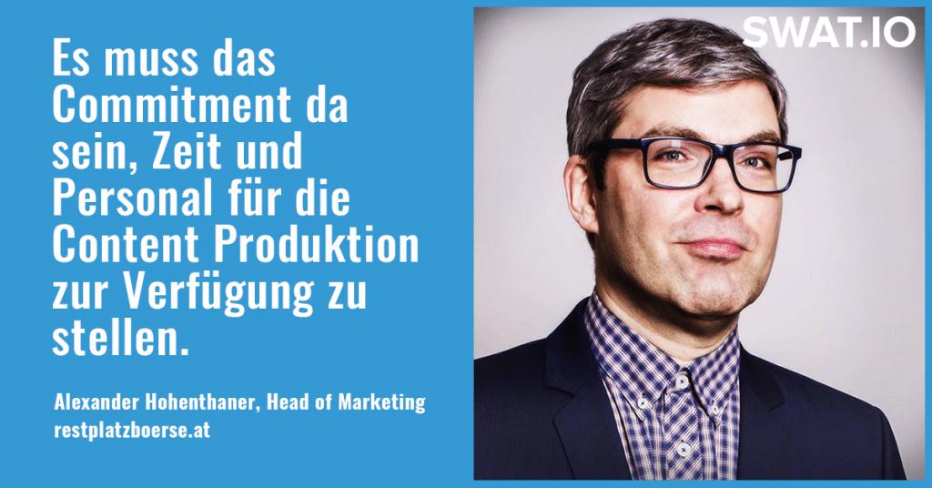 """Alexander Hohenthaner, Restplatzboerse.at: """"Eine eigene Strategie für jeden Social Media Kanal"""" 3"""