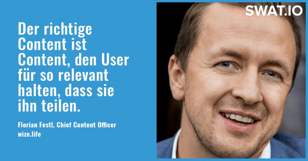 """Florian Festl, Wize.life: """"Identifikation der User mit der Art der Content-Aufbereitung"""" 2"""