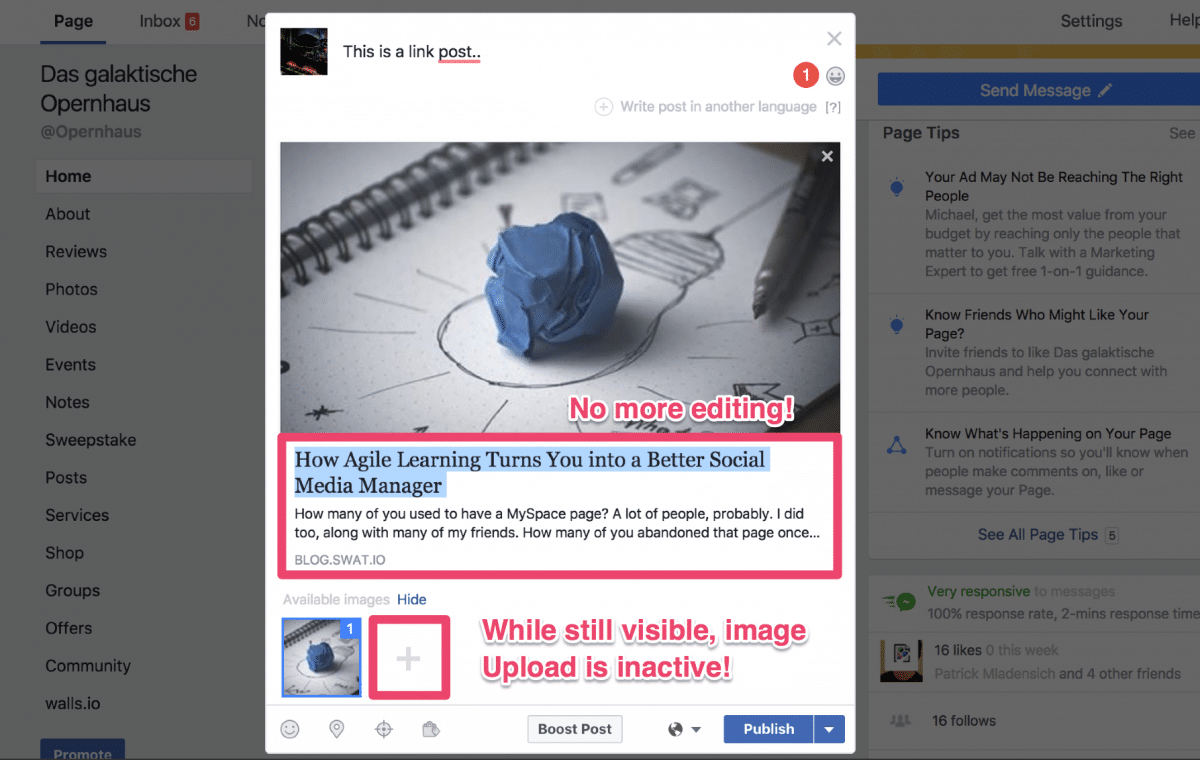Facebook Link-Previews – 5 Workarounds um Link-Posts auch nach dem 18. Juli zu modifizieren 2