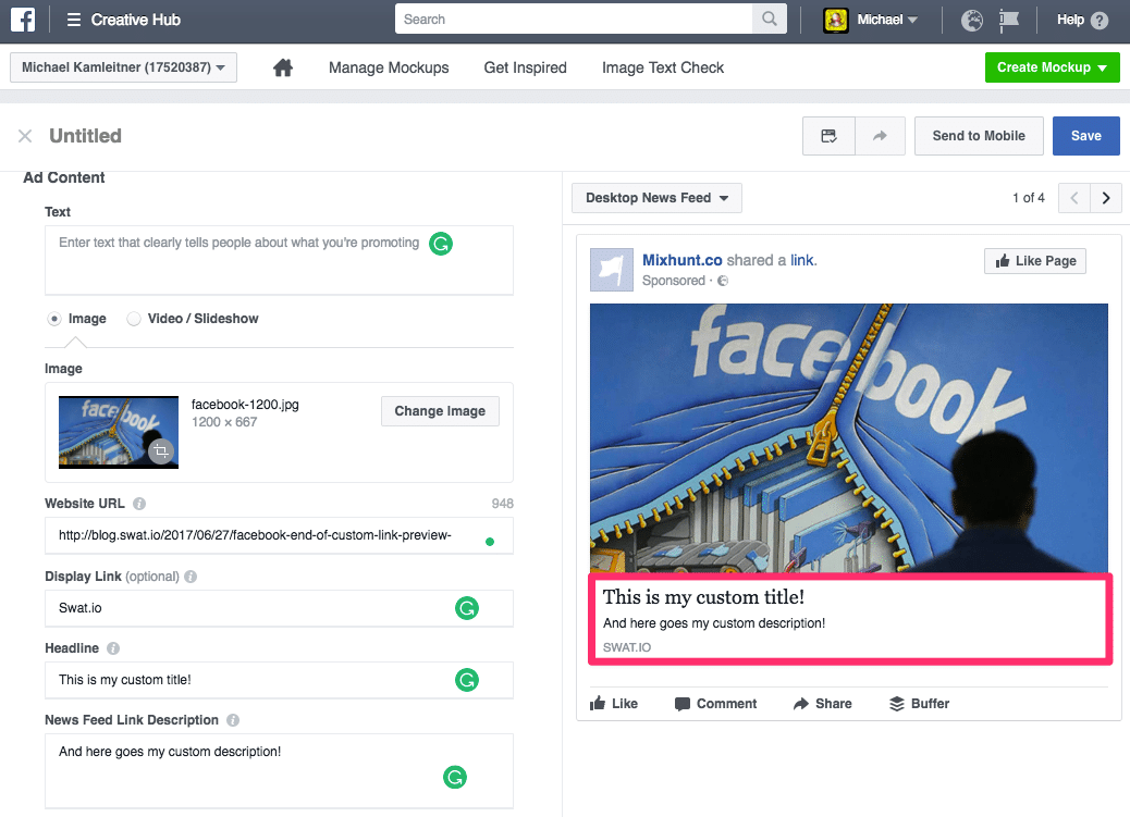 Facebook Link-Previews – 5 Workarounds um Link-Posts auch nach dem 18. Juli zu modifizieren 4