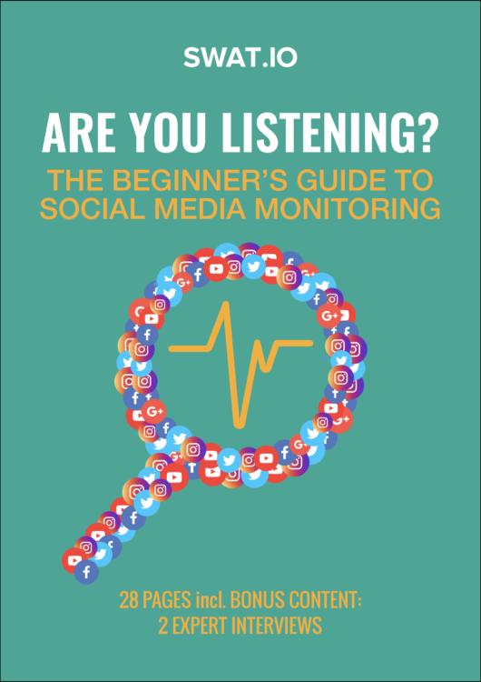 eBook Cover Flat Social Media Monitoring Beginners Guide