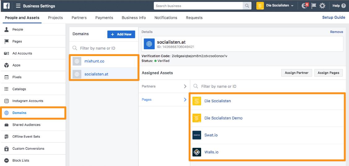 Facebook Link Previews - Wie du die Domainverifizierung zur Modifizierung deiner Link Posts verwendest 2