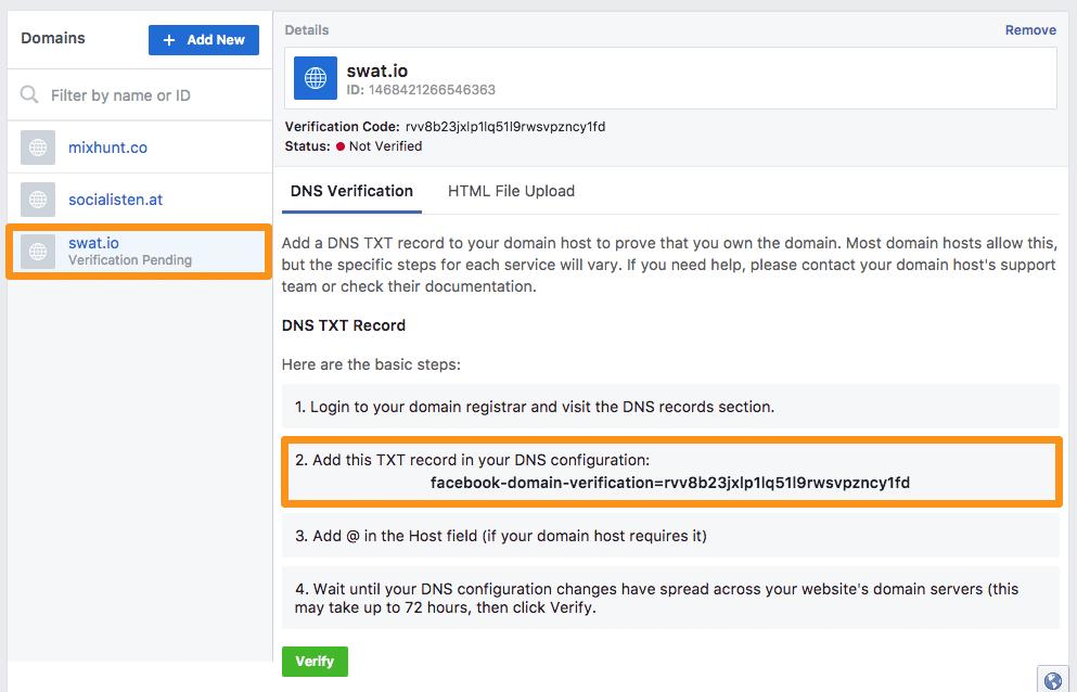 Facebook Link Previews - Wie du die Domainverifizierung zur Modifizierung deiner Link Posts verwendest 3