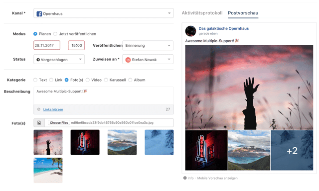 Feature Update Januar 2018 – Posten auf Instagram & weitere Goodies 5