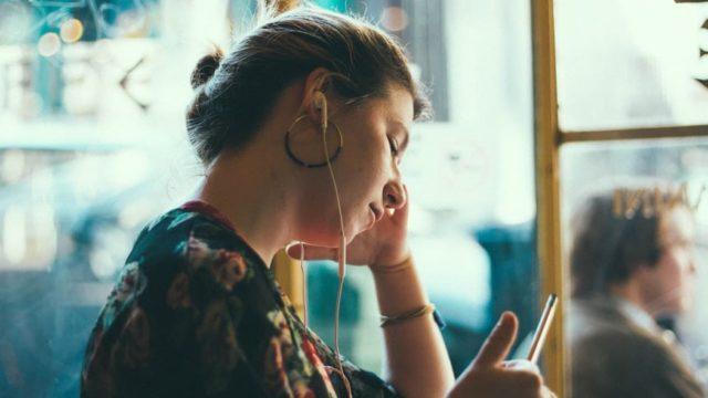 listening podcasts headphones
