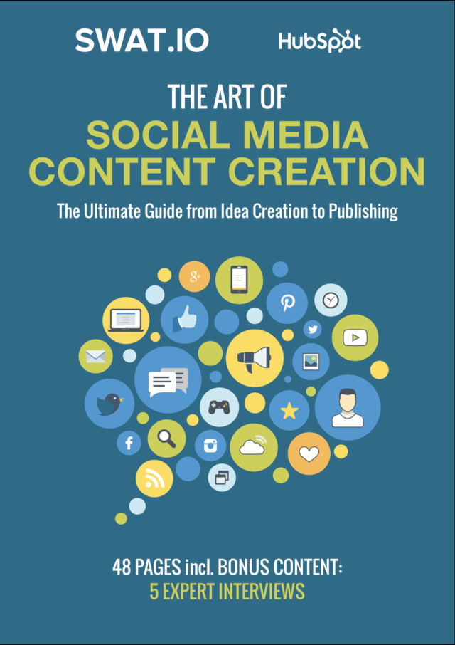 Cover Social Media Content Creation E-Book