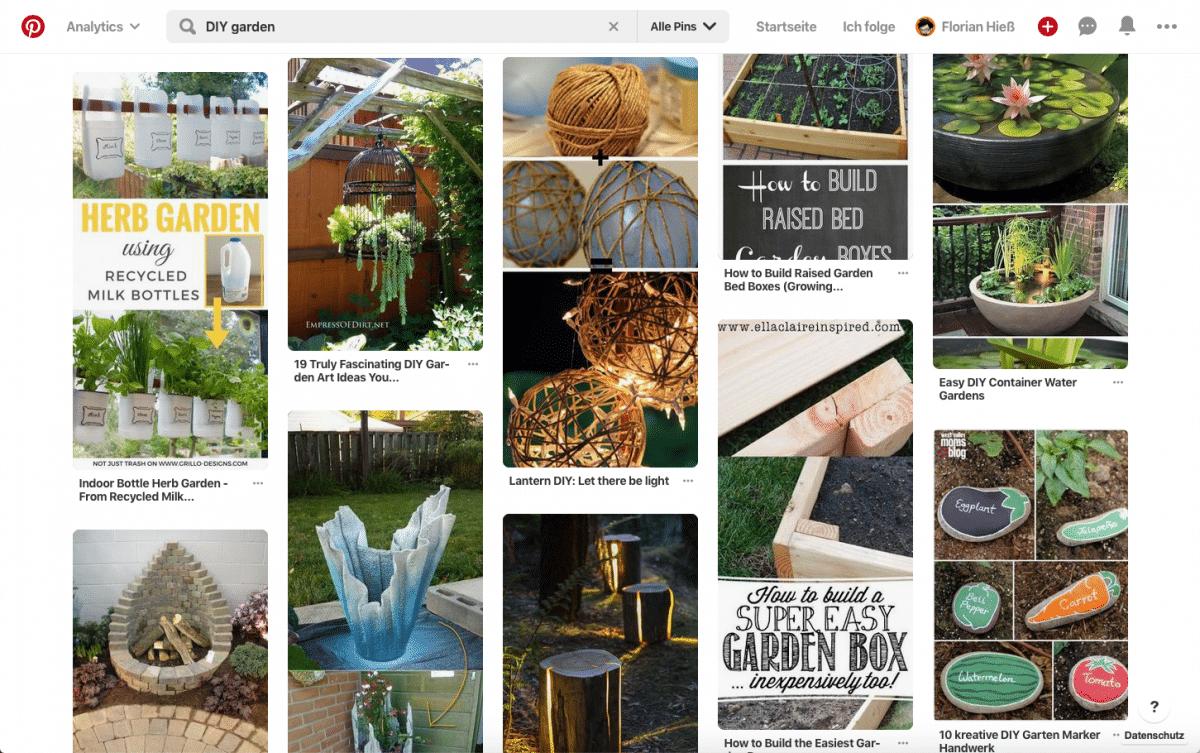 Visuelle Kreativität gewinnt in den Suchergebnissen auf Pinterest
