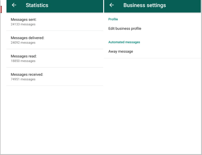 WhatsApp Business analytics and statistics