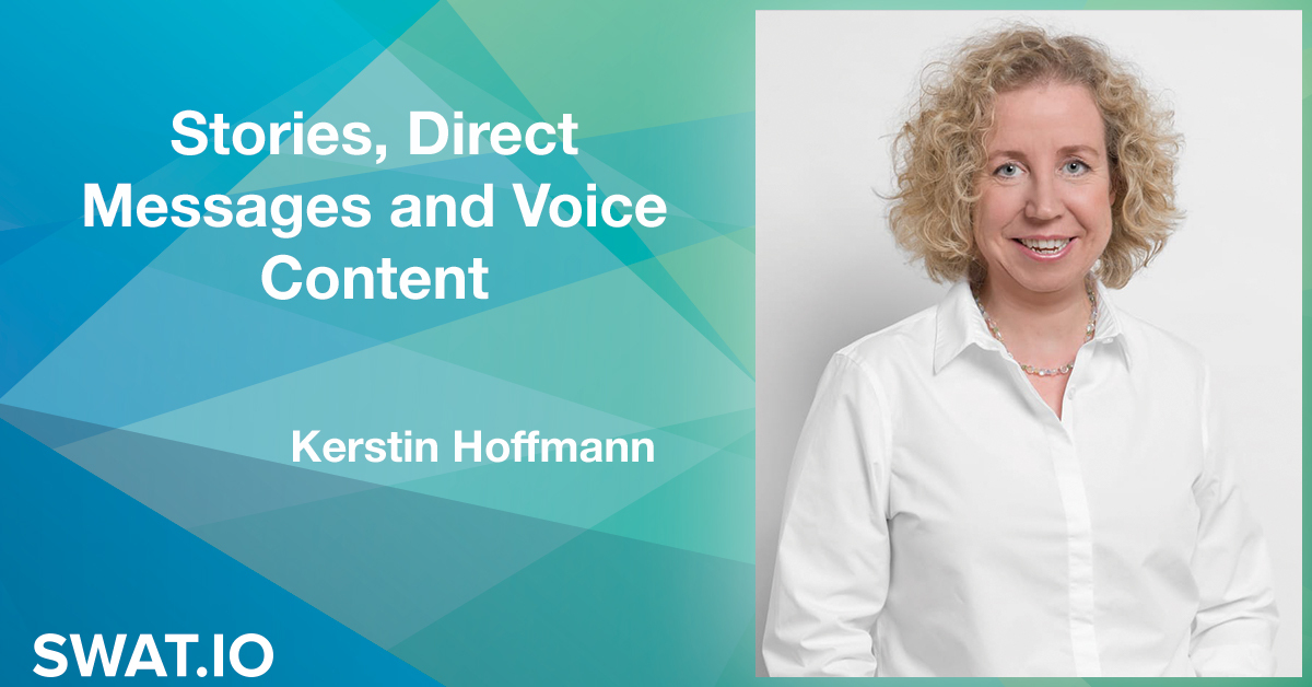 Kerstin Hoffmann about the Social Media Trends 2019