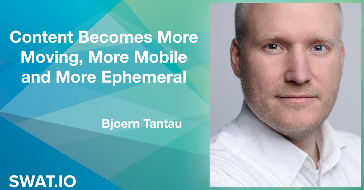 Björn Tantau about the Social Media Trends 2019