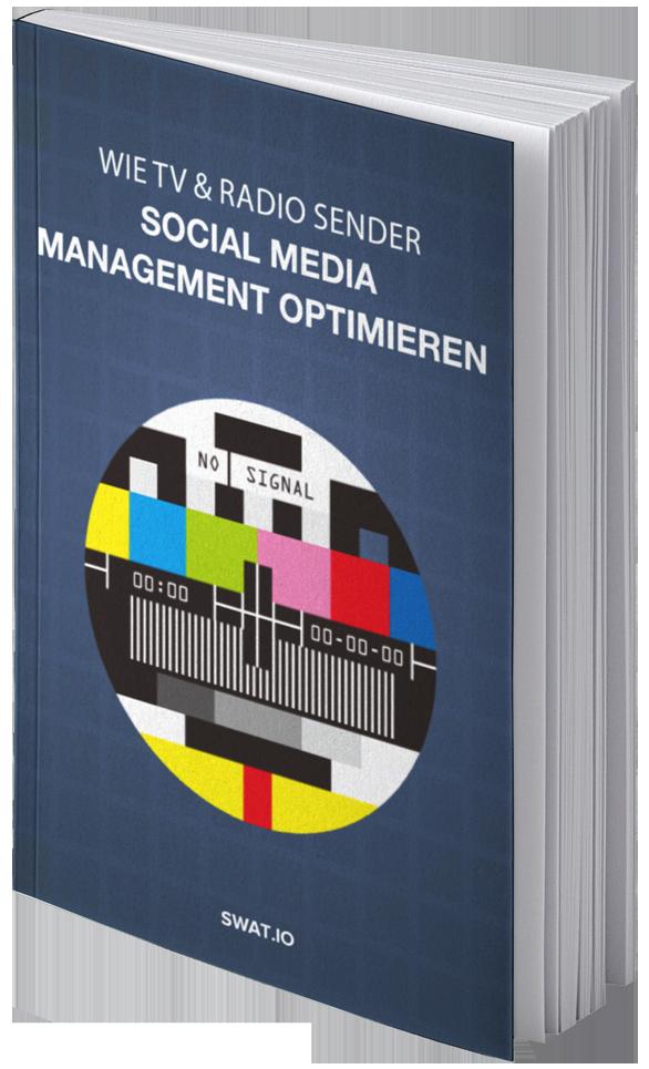 eBook Cover Wie TV und Radio Sender Social Media Management optimieren