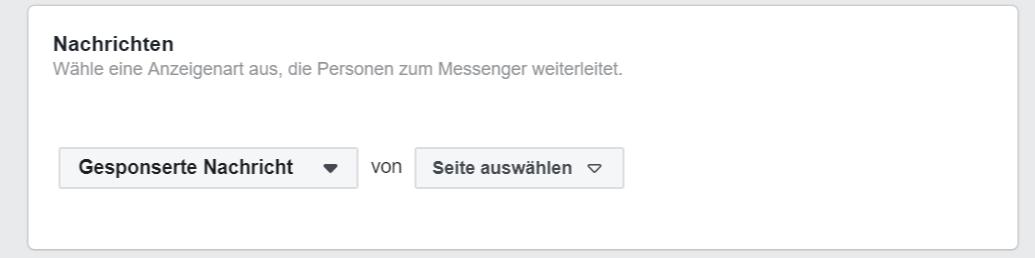 Gesponserte Nachrichten Einstellungen Facebook Ads