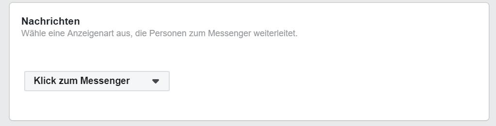 Klick zum Messenger Facebook Ads