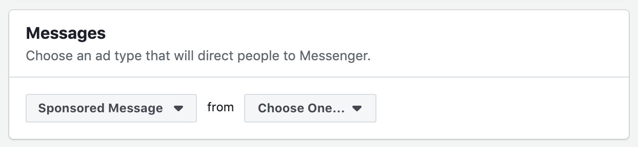 Sponsored Message Settings Facebook Ads