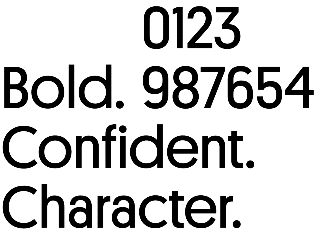 Rebranding Font Example 1