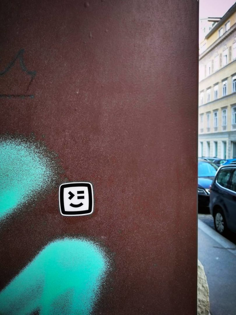 Swat.io logo in the streets of vienna