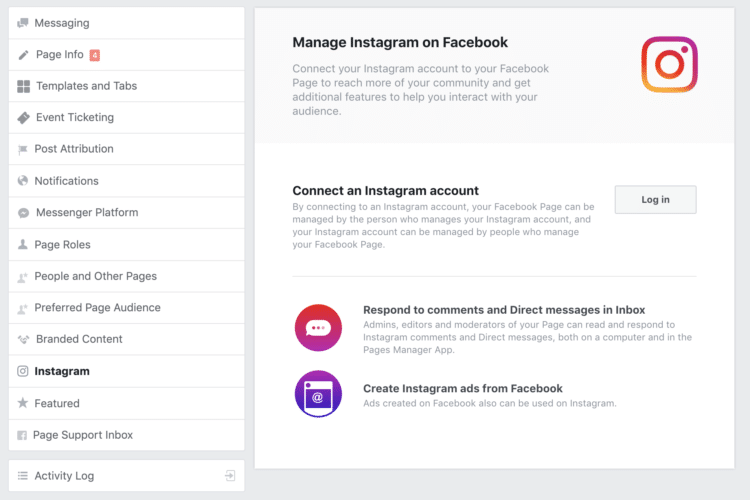 Instagram Facebook Connect Accounts