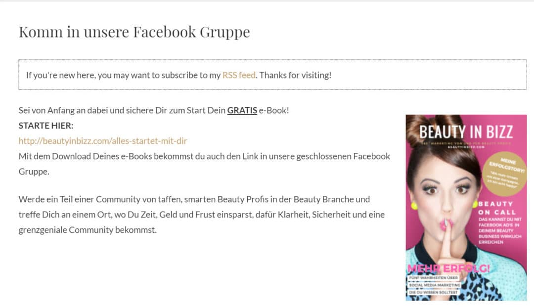 Facebook Gruppe E-Book Download