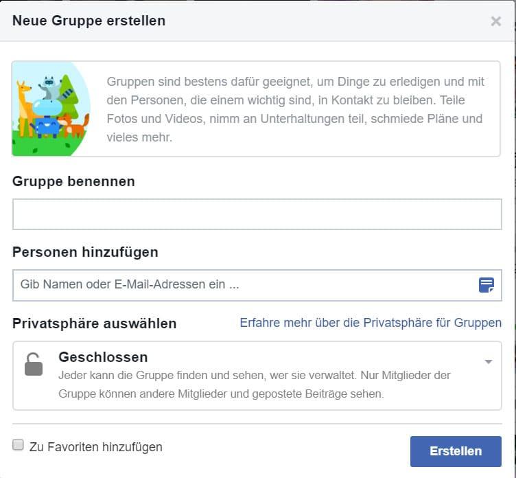 Facebook Gruppe Erstellen