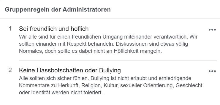 Facebook Gruppen Regeln
