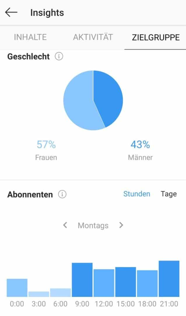Instagram Insights: Zielgruppe