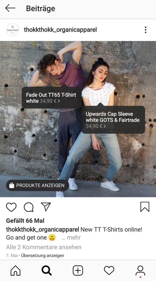 Instagram Explore Tagging Products