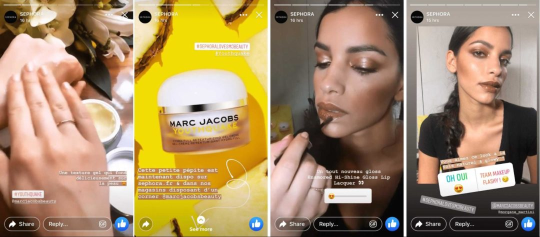 Facebook Stories Tutorials Marc Jacobs