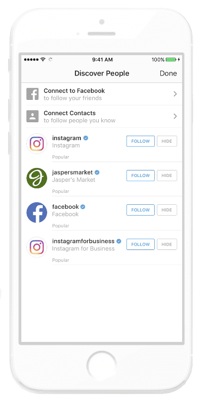 Instagram Business Account Discover People