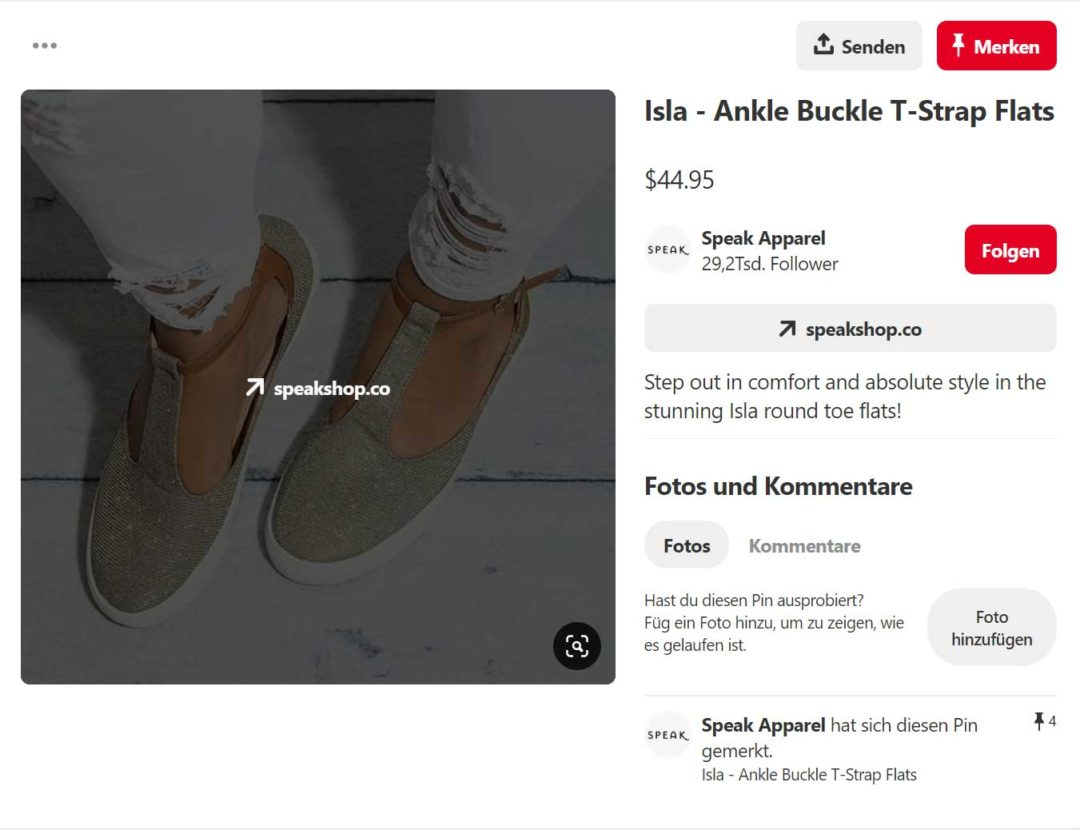 Social Media eCommerce Product Rich Pins Pinterest