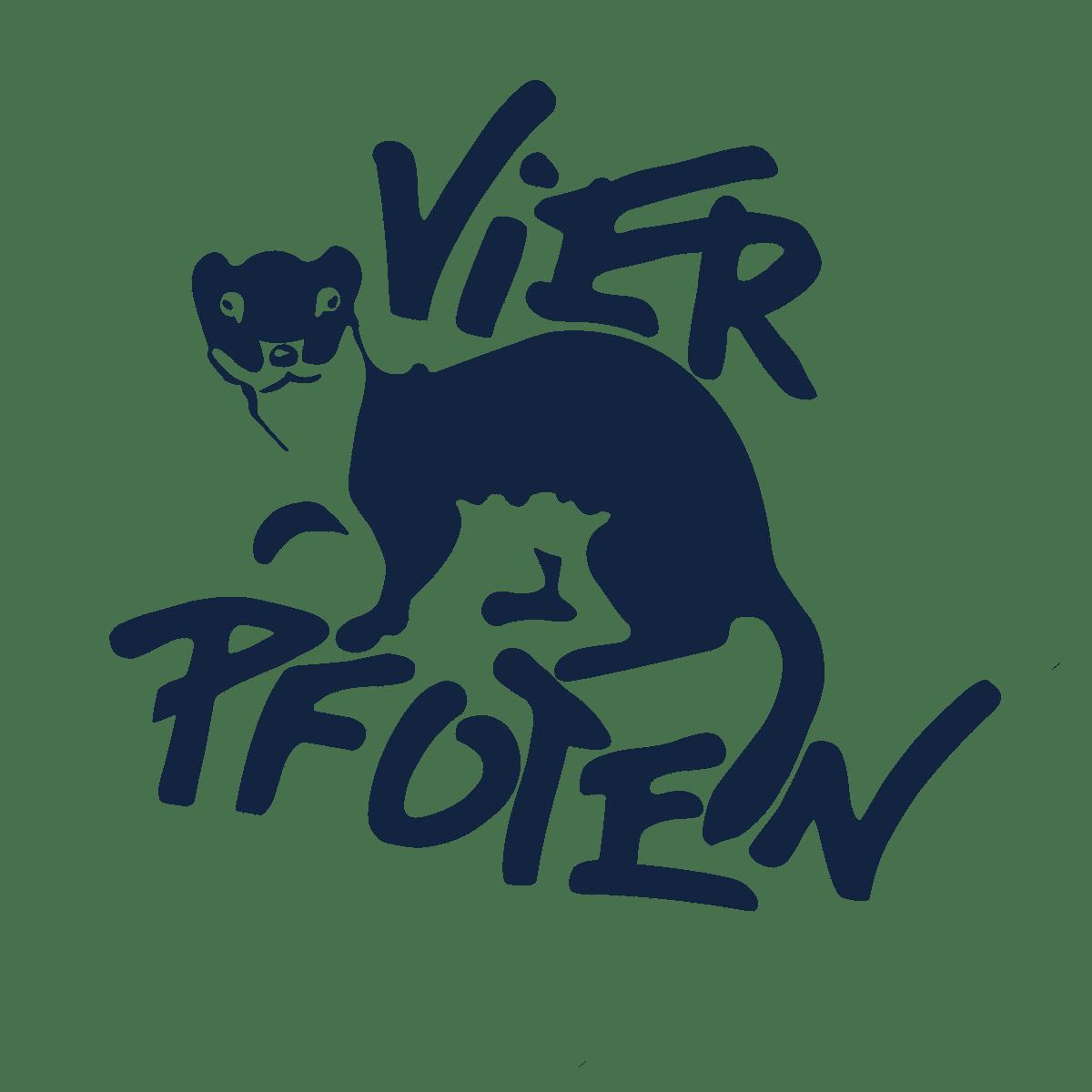 Logo Vier Pfoten dunkelblau