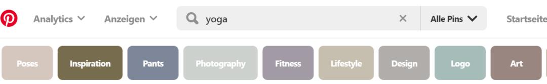 Pinterest SEO Keyword Vorschläge