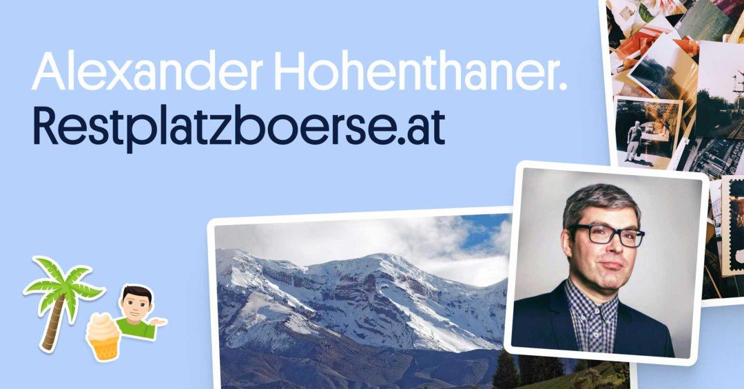 Social Media Content Kreation Hohenthaner Restplatzbörse