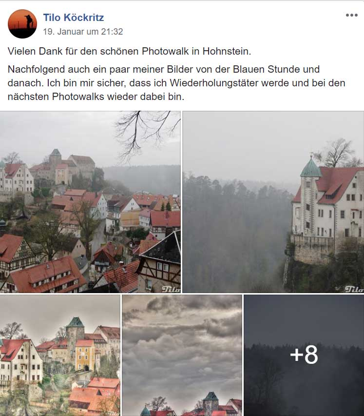 Tourismus Social Media Content Sächsische Schweiz
