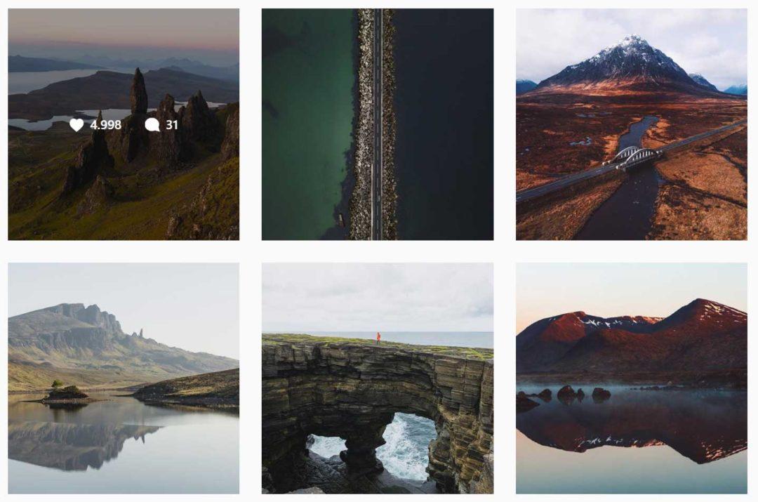 Tourismus Social Media Content schottische Highlands
