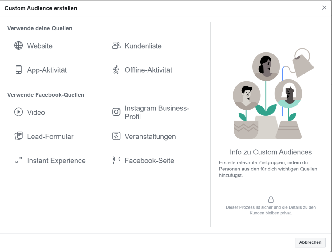 Facebook Tracking ohne Pixel Custom Audience
