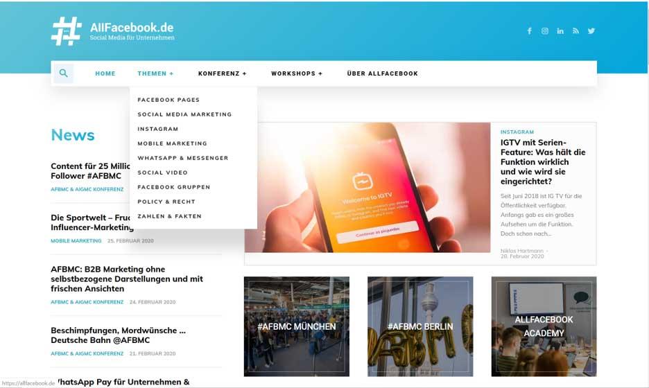 Social Media Blogs Allfacebook