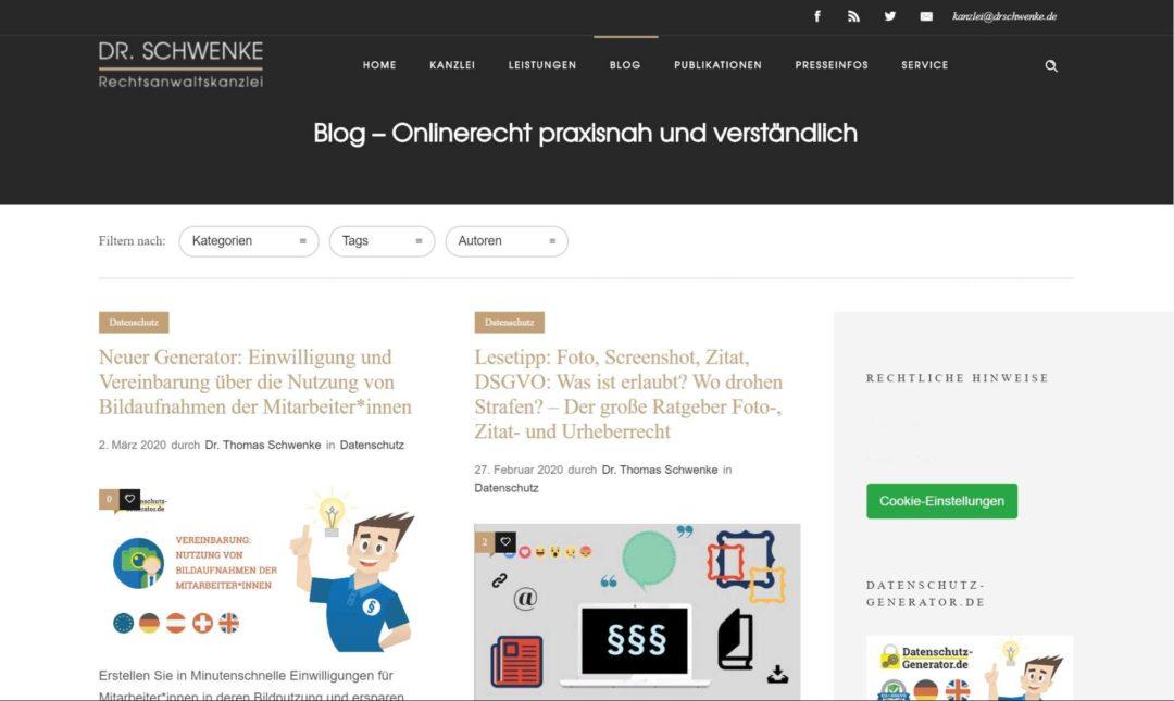 Social Media Blogs Dr Schwenke