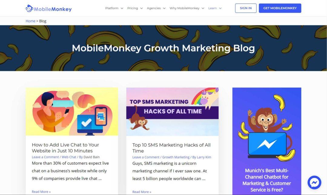 Social Media Blogs Mobile Monkey