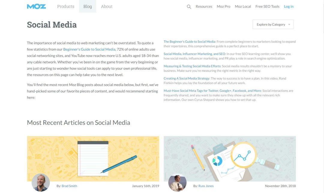Social Media Blogs Moz