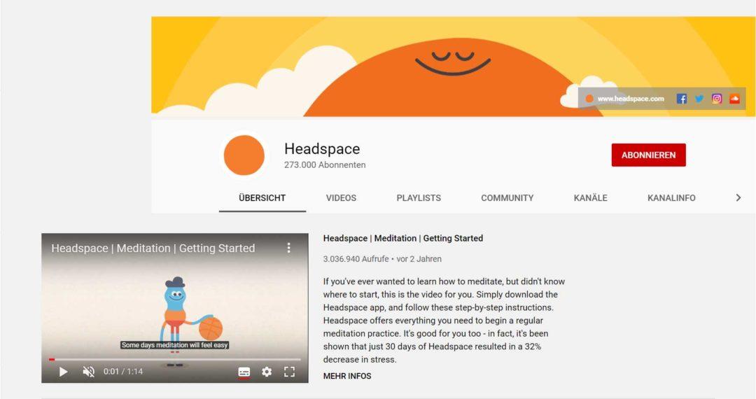 YouTube SEO Kanalseite