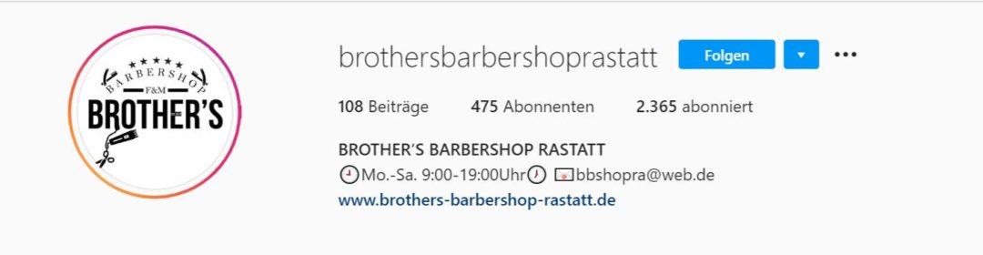 Instagram Bio Erklärend (Brother's Barbershop)