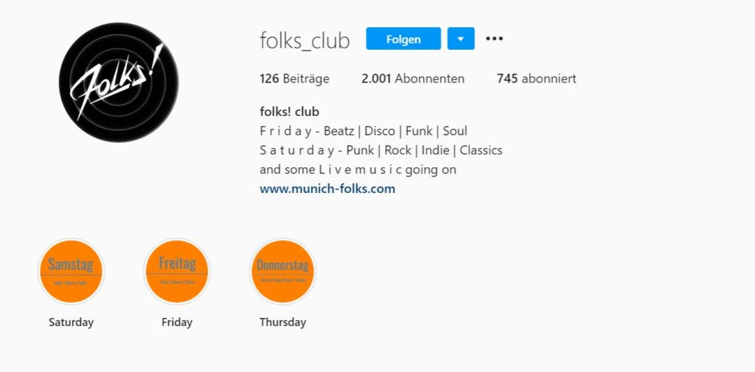 Instagram Bio Erklärend (Folks)