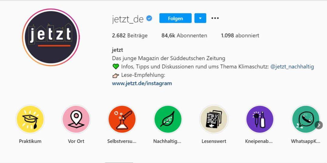 Instagram Bio Erklärend (jetzt)