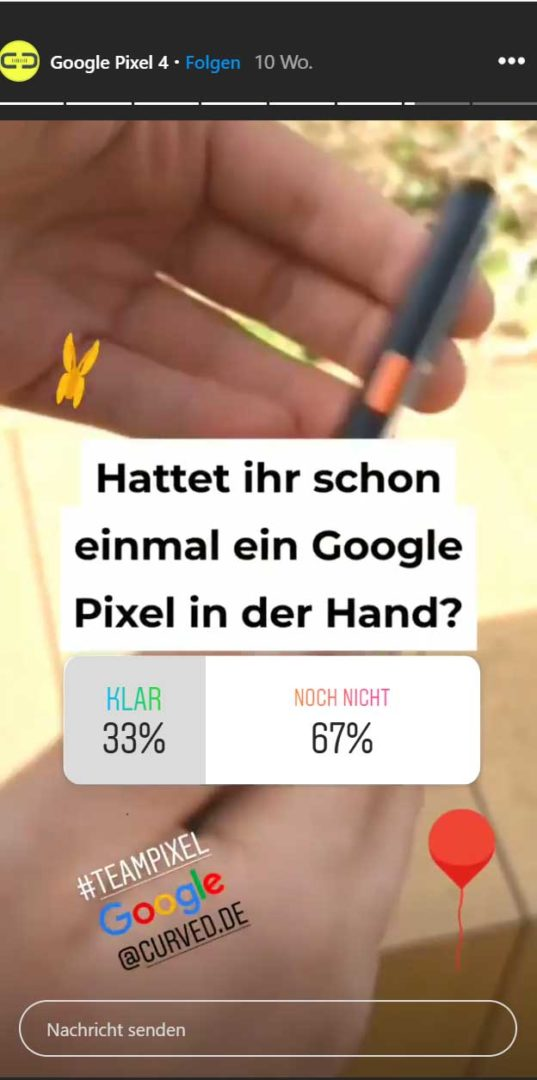 Instagram Story Analytics Umfrage Sticker